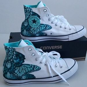 NWT Converse Butterfly Super Pretty High Tops